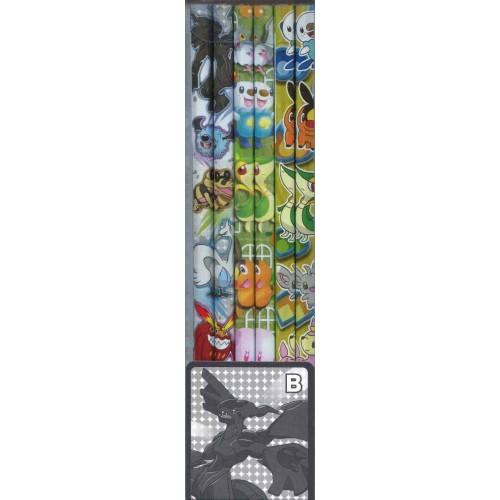 Pokemon Center 2010 Zekrom Snivy Tepig Oshawott Minccino & Friends Set of 12 Pencils