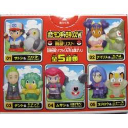 Pokemon 2011 Bandai Pokemon Kids Best Wishes Iris Axew Clear Version Set of 2 Figures