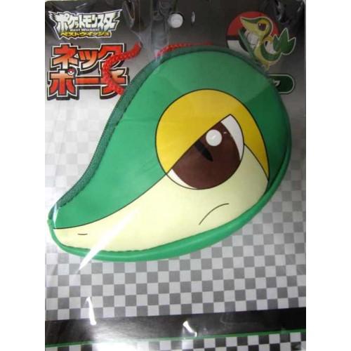 Pokemon Center 2011 Best Wishes Snivy Tsutarja Neck Pouch