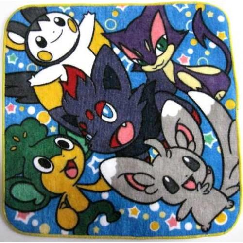 Pokemon Center 2010 Zorua Minccino Pansage Emolga Purrloin Mini Hand Towel