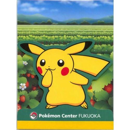 Pokemon Center Fukuoka 2011 Pikachu Memo Pad