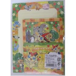 Pokemon Center Fukuoka 2012 Renewal 1st Anniversary Pikachu Joltik Whimsicott Snivy Drilbur & Friends Letter Writing Set