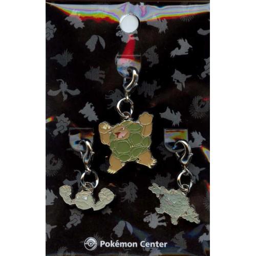 Pokemon Center 2009 Golem Geodude Graveler Set of 3 Charms