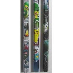 Pokemon Center 2011 Victini Reshiram Snivy Tepig Hydreigon Pikachu Zekrom Oshawott Emolga Golurk Scraggy Axew Pansage Set of 12 Pencils