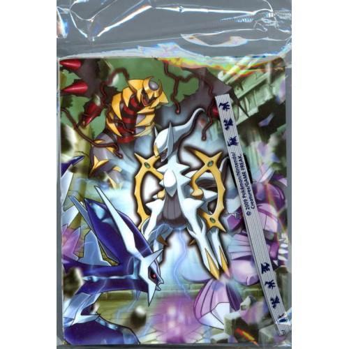 Pokemon 2009 DPt4 Advent of Arceus Arceus Giratina Dialga Palkia Mini Card Binder Movie Theater Version #3