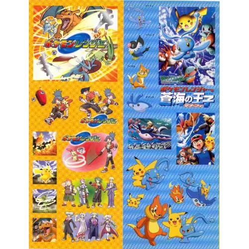 Pokemon 2006 Charizard Floatzel Manaphy Pikachu & Friends Large Sticker Sheet