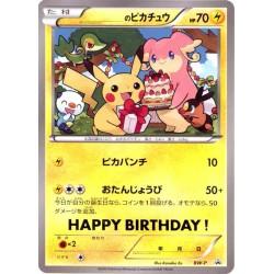 Pokemon Center 2010 Happy Birthday Pikachu Audino Snivy Oshawott Tepig Jumbo Size Promo Card