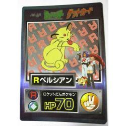 Pokemon 1997 Meiji Chocolate Team Rockets Persian Promo Card