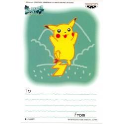 Pokemon 1998 Banpresto Character Mail Collection Pikachu Sketch Version Postcard