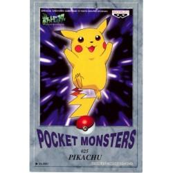 Pokemon 1998 Banpresto Character Mail Collection Pikachu Dark Background Version Postcard
