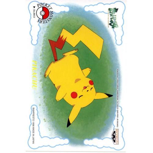 Pokemon 1998 Banpresto Character Mail Collection Pikachu Sleeping Postcard