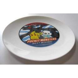 Pokemon 2011 Pizza La Zekrom Pikachu Oshawott Ceramic Plate NOT FOR SALE IN STORES