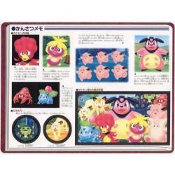 Pokemon 2000 Jumbo Sealdass #10 Momo Stock Farm Smoochum Miltank Heracross Meowth Persian Bulbasaur Ivysaur & Friends Large 2 Sticker Sheet Book
