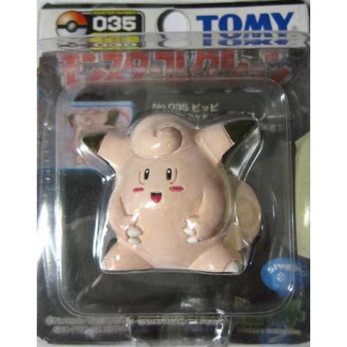 "Pokemon 2004 Clefairy Tomy 2"" Monster Collection Plastic Figure #035"